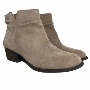 JESSICA SIMPSON DALISA Tan Suede Ankle Booties